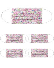 Breast Cancer 08 Cloth Face Mask - 5 Pack front