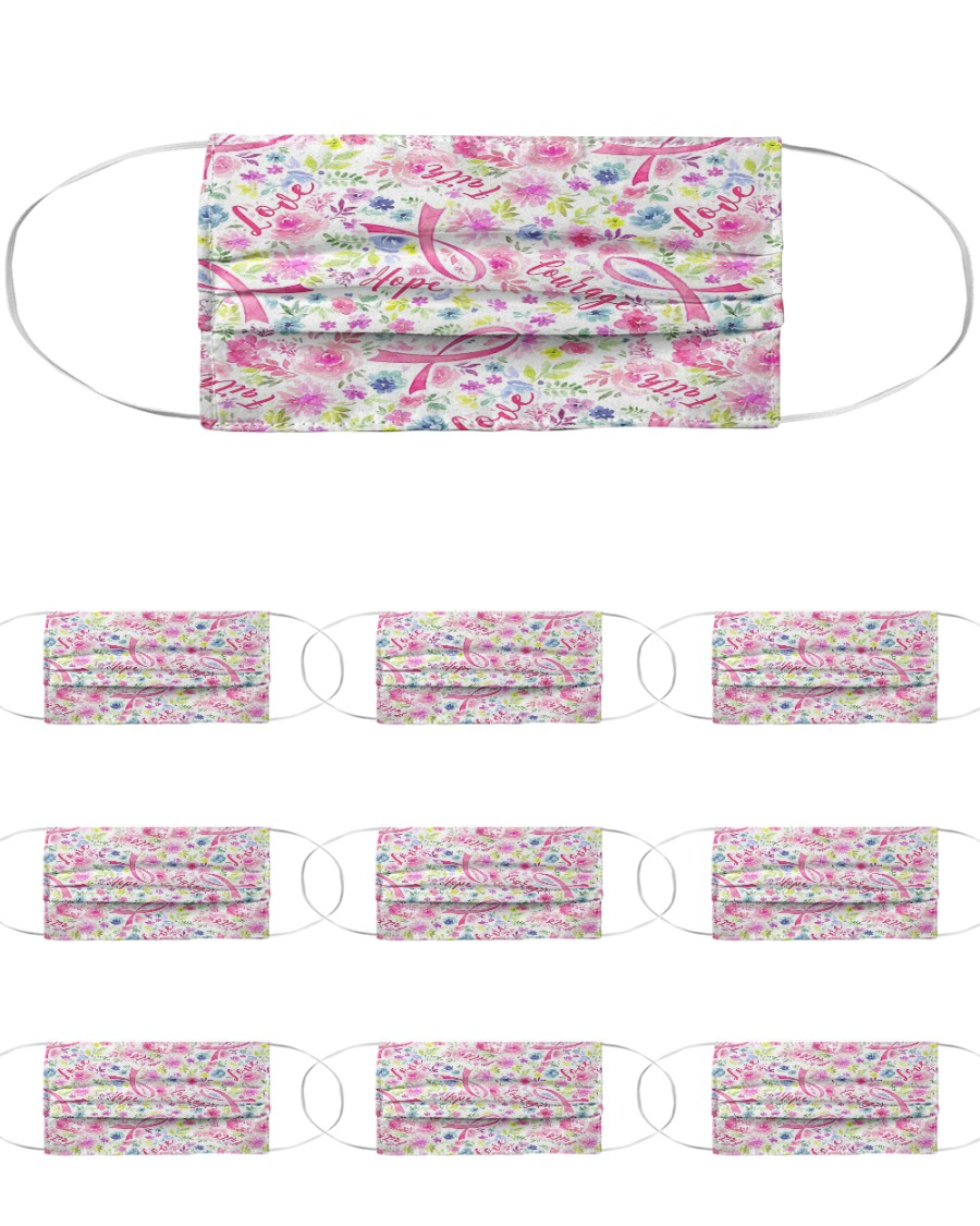 Breast Cancer 08 Cloth Face Mask - 10 Pack