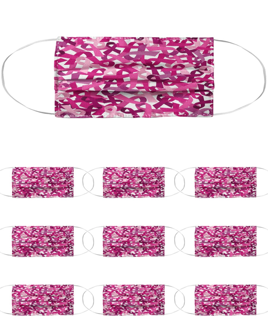 Breast Cancer 06 Cloth Face Mask - 10 Pack