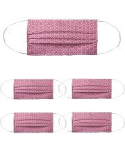 Breast Cancer 02 Cloth Face Mask - 5 Pack front