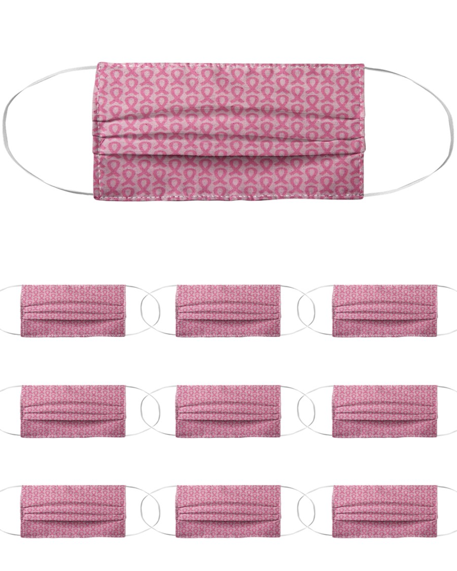 Breast Cancer 02 Cloth Face Mask - 10 Pack