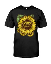 Sloth Sunflower Classic T-Shirt front