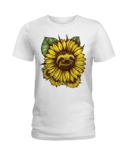 Sloth Sunflower Ladies T-Shirt thumbnail