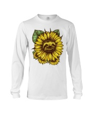 Sloth Sunflower Long Sleeve Tee tile