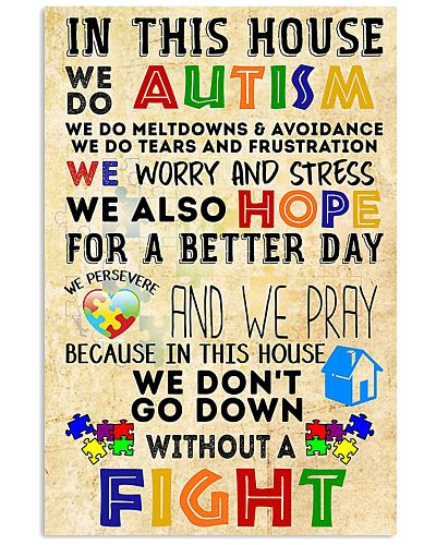 Autism Awareness In this house We do Autism