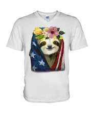 Sloth American V-Neck T-Shirt thumbnail