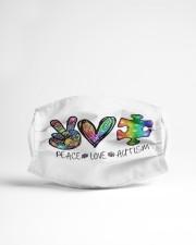 Peace Love Autism Cloth face mask aos-face-mask-lifestyle-22