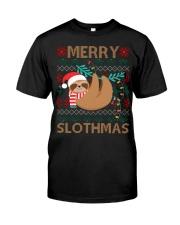 xmas sloth Classic T-Shirt front