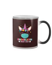 Quarantine Unicorn Kindergarten Color Changing Mug thumbnail