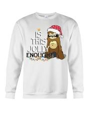 Sloth is this jolly enough Crewneck Sweatshirt thumbnail