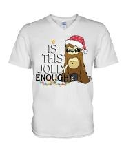 Sloth is this jolly enough V-Neck T-Shirt thumbnail