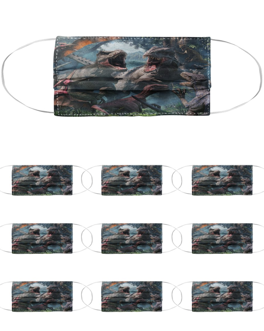 T Rex 16 Cloth Face Mask - 10 Pack