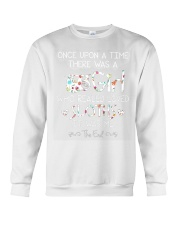 Once Upon A Time There Ws A Girl Who Loved Sloths Crewneck Sweatshirt thumbnail