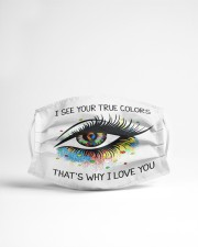 I See Your True Color Cloth face mask aos-face-mask-lifestyle-22