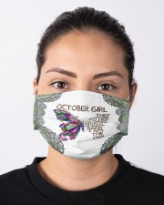 October girl they whispered to her storm Cloth Face Mask - 3 Pack aos-face-mask-lifestyle-01