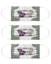 October girl they whispered to her storm Cloth Face Mask - 3 Pack front