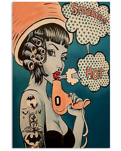 Hairdresser hot smoking poster