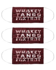 Veteran whiskey tango foxtrot face mask Cloth Face Mask - 3 Pack front