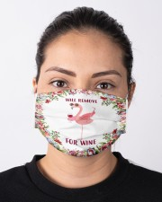 Flamingo will remove for wine 3d face mask Cloth Face Mask - 3 Pack aos-face-mask-lifestyle-01