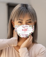 Flamingo will remove for wine 3d face mask Cloth Face Mask - 3 Pack aos-face-mask-lifestyle-18