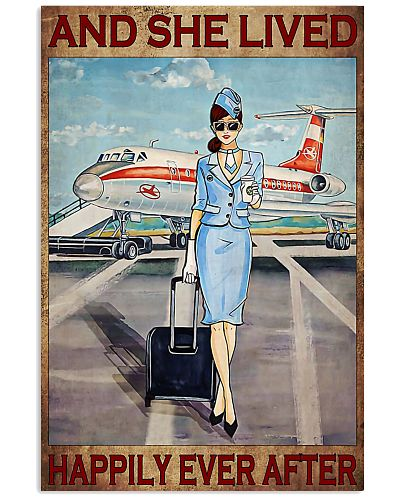 POSTER Blue flight attendance and she live happily
