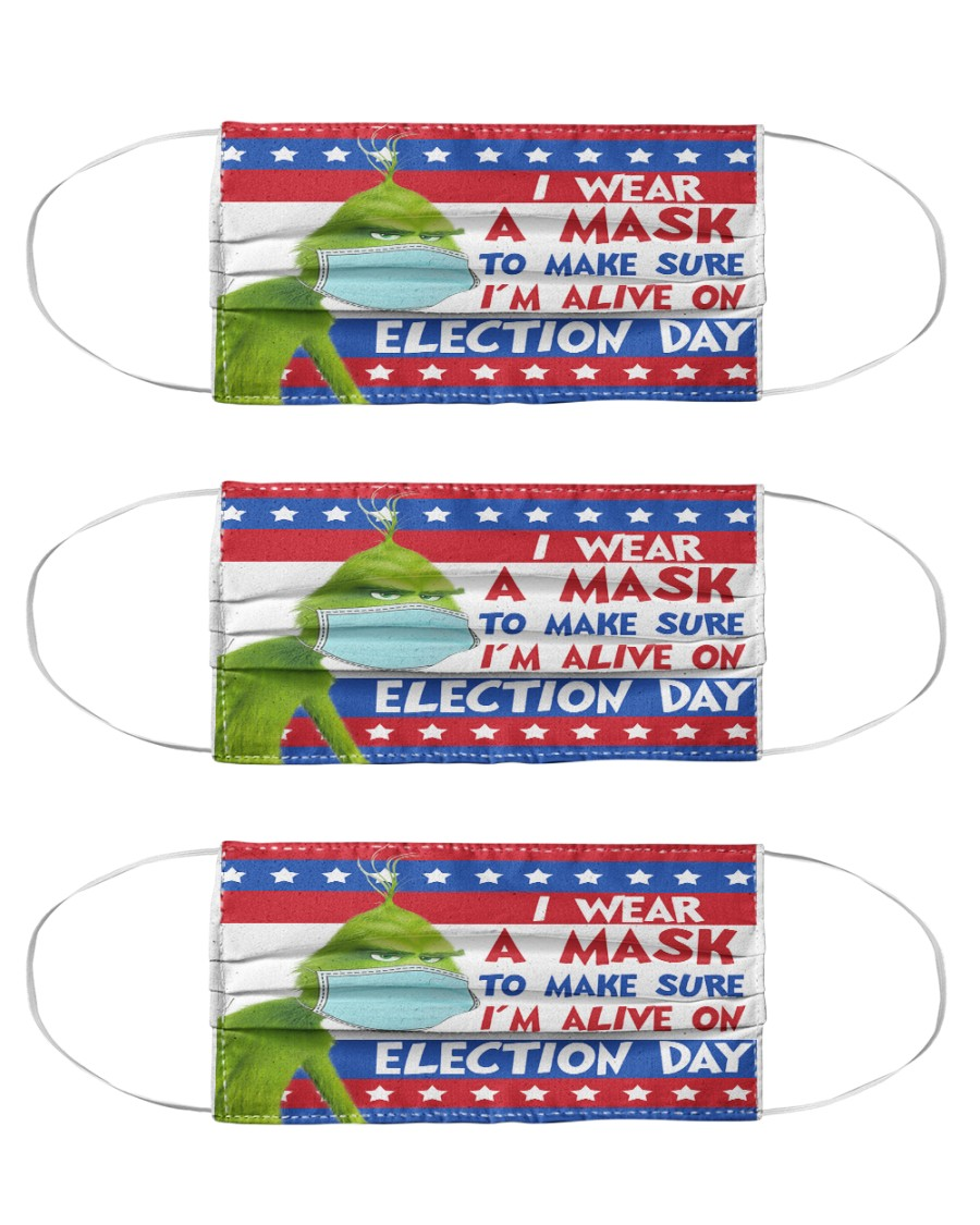 Grinch I wear a mask to make sure I'm face mask Cloth Face Mask - 3 Pack