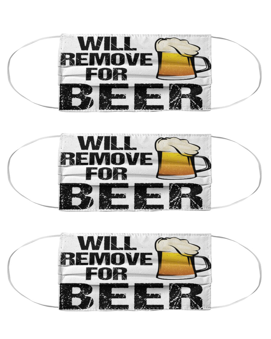 Will remove for beer face mask Cloth Face Mask - 3 Pack