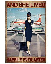 Flight attendance she lived happily ever Brown 24x36 Poster front