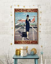 Flight attendance she lived happily ever Brown 24x36 Poster lifestyle-holiday-poster-3