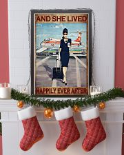 Flight attendance she lived happily ever Brown 24x36 Poster lifestyle-holiday-poster-4