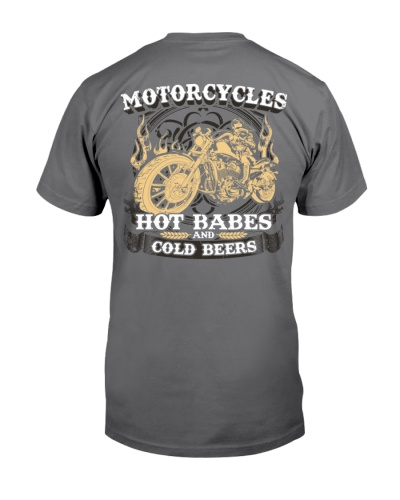 Motorcycle Hot Babes Cold Beers Biker