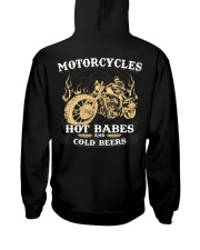 Motorcycle Hot Babes Cold Beers Biker Hooded Sweatshirt back