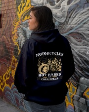 Motorcycle Hot Babes Cold Beers Biker Hooded Sweatshirt lifestyle-unisex-hoodie-back-1