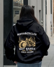 Motorcycle Hot Babes Cold Beers Biker Hooded Sweatshirt lifestyle-unisex-hoodie-back-2