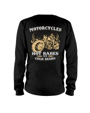 Motorcycle Hot Babes Cold Beers Biker Long Sleeve Tee thumbnail