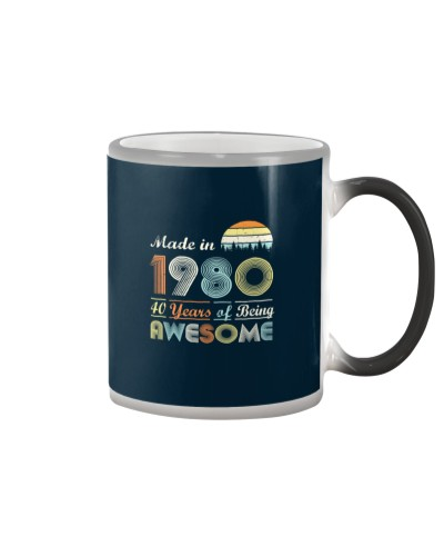 Vintage 1980 Made in 1980 birthday