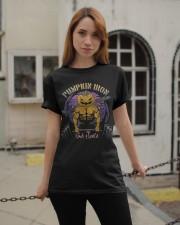 Mens Halloween Gym Workout Pumpkin Iron T-Shirt Classic T-Shirt apparel-classic-tshirt-lifestyle-19