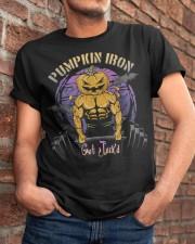 Mens Halloween Gym Workout Pumpkin Iron T-Shirt Classic T-Shirt apparel-classic-tshirt-lifestyle-26