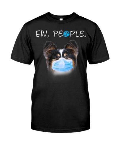 Papillon Dog Ew People Dog Wearing A Face Mask