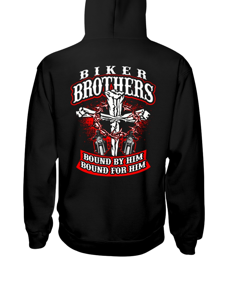 Jesus Motorcycle Cross Biker Brothers Hooded Sweatshirt