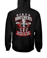 Jesus Motorcycle Cross Biker Brothers Hooded Sweatshirt back