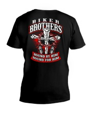Jesus Motorcycle Cross Biker Brothers V-Neck T-Shirt thumbnail