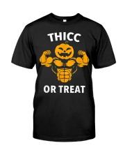 Trick or Treat Funny Halloween Men Women Gym Body Classic T-Shirt thumbnail