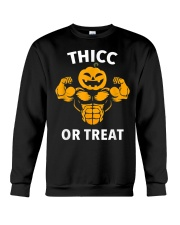 Trick or Treat Funny Halloween Men Women Gym Body Crewneck Sweatshirt thumbnail