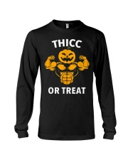 Trick or Treat Funny Halloween Men Women Gym Body Long Sleeve Tee thumbnail