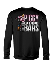 Motorycycle Hog Biker Leather Piggy Bars Crewneck Sweatshirt thumbnail