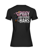 Motorycycle Hog Biker Leather Piggy Bars Premium Fit Ladies Tee thumbnail