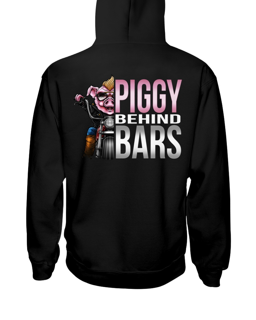Motorycycle Hog Biker Leather Piggy Bars Hooded Sweatshirt