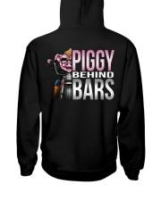 Motorycycle Hog Biker Leather Piggy Bars Hooded Sweatshirt back