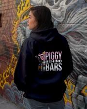 Motorycycle Hog Biker Leather Piggy Bars Hooded Sweatshirt lifestyle-unisex-hoodie-back-1
